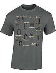 Idea Regalo - Maglietta: Fabbricare la Birra -Birra - Birraio - Beer - Idea Regalo per Uomini - T-Shirt in Tedesco - Maglia Uomo - Bere - Addio -Birra Artigianale - Craft-Beer - Oktoberfest (M)