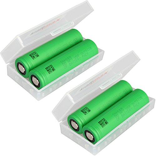 kraftmax 4er Pack Murata 18650 VTC5 Akku 3,7V / 30A / 2600 mAh - US18650VTC5 Akkus inkl. Premium Akkubox - NEUSTE Version