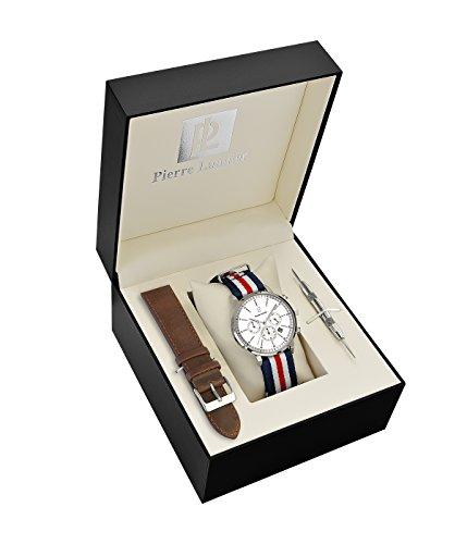 PIERRE LANNIER Homme Chronographe Quartz Montre avec Bracelet en Tissu 376A129