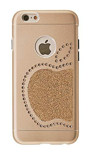 Ishield® for iphone con *51* crystals from swarovski® modello re mela e mela (iphone 6s/6 re mela, oro)