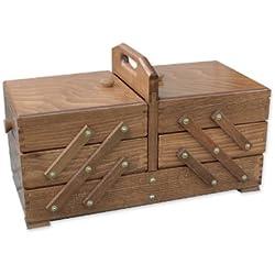 Aumueller - Costurero (madera de haya, 46 x 23 x 26 cm), color marrón
