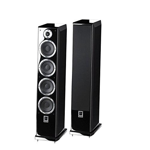 Ascada 600 Tower | Vollaktives kabelloses High-End-Lautsprechersystem | hochwertige Eingänge (optisch, Coax, USB, Bluetooth, aptx) | 1 Paar - schwarz