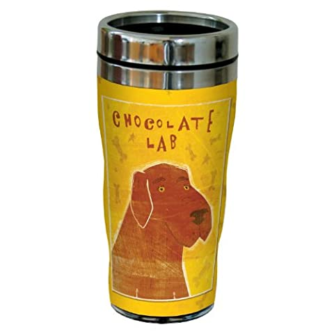 Sg23988 Chocolate Labrador By John W. Golden 16-Ounce Sip 'N Go Stainless Steel Lined Travel
