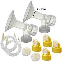 Kit extractor de leche Maymom para Medela Lactina, Symphony, edad Bomba en el estilo Avanzada bombas; 2breastshields, 4Válvulas, 6membranas, y 2tubos para bomba en el estilo Avanzada Vendido antes de julio de 2006; Piezas de recambio para Medela mama Shield, Medela tubos, válvulas y membranas