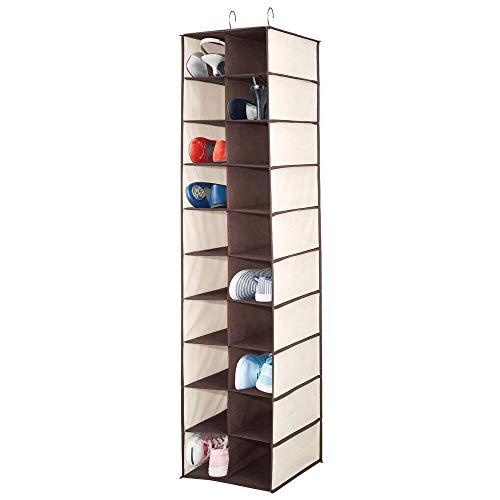 MDesign Estantería para colgar con 20 apartados - Organizador colgante grande para la barra del armario...