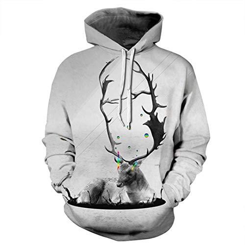 Deer Printed 3D Männer Frauen Printed Animal Trainingsanzüge Fashion Pullover beiläufige lose Outwear Jacken 1 XXL