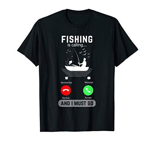 Fischen nennt und ich muss Telefon-Schirm-Geschenk gehen T-Shirt (Schirm Für Telefon)
