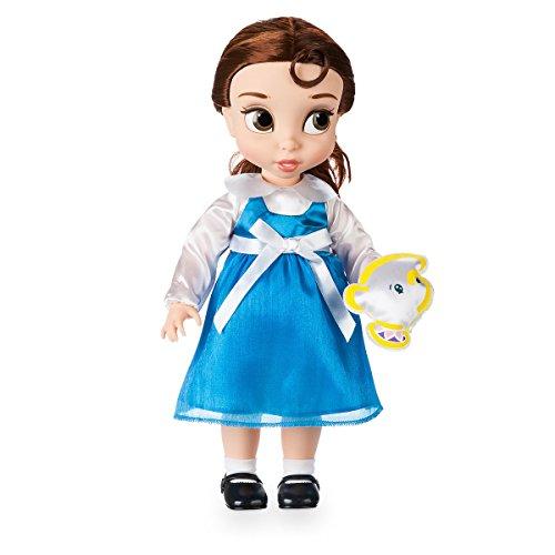 Disney Belle Puppe 39cm mit Chip Kuschelpuppe aus Satin - Animators Collection - Die Schöne und das ()