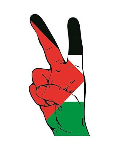 U24 Aufkleber Peace Finger Palästina Autoaufkleber Sticker