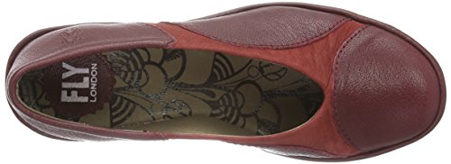 Fly London Yani, Pompes à plateforme plate Femme Rouge (cordoba Red/cordoba Red 002)
