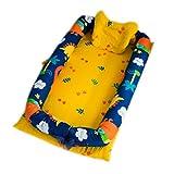 Discovery Babyschale Baby-Bett, co-sleeping Weihnachtskrippen & Dockingstation Lounger Sitzkissen, 100% Bio-Baumwolle, un-dyed Tragbare Reise-Bett, Dinosaurier, Einheitsgröße