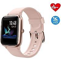 Montre Connectée Intelligente Smartwatch Femmes Homme Tactile Bracelet Connecté Etanche Tracker d'Activité Cardiofréquencemètre Fitness Tracker Sport Podometre Calories Chronometre pour Android iOS