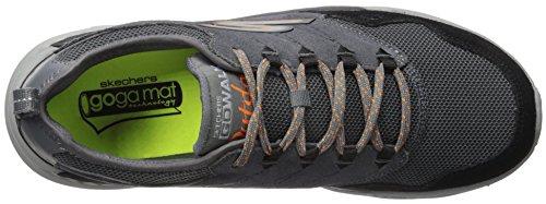 Skechers Performance Mens Go Outdoor-Voyage Walking Shoe Charcoal/Orange