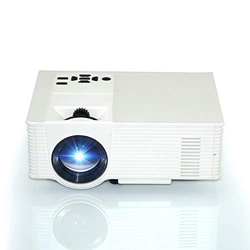 Kabelloser Mini-Viedo-Projektor, Video-Formatwandler,1500 Lumen, 1080 P Bildgrößenanpassung, weißer Player mit AV / VGA / USB / HDMI-Schnittstelle