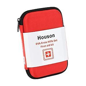 Erste Hilfe Set, HOUSON Notfall Apotheke, 68 teilig Medizinische Notfalltasche First Aid Kit mit Verband Pflaster Reisen…
