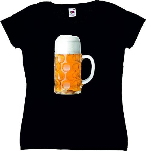 T-Shirt Oktoberfest Wiesn München Junggesellenabschied für Frauen Männer und Kinder in allen Größen XS bis 4XL oder Kinder 104 bis 164 Motiv Nr.28 Damen-Schwarz