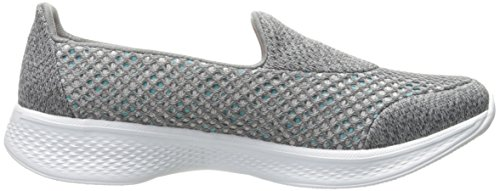 Skechers Go Walk 4 - Kindle, Basses Femme Gris (Gry)