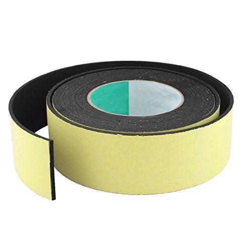SODIAL(R) 4M 50mm x 3mm Einseitig Selbstklebend Schaum Dichtband fuer Tuer Fenster