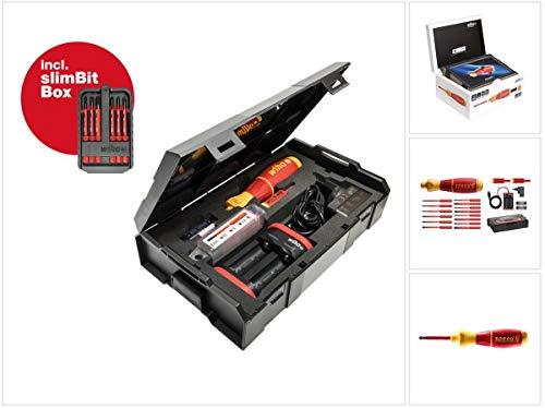 Wiha speedE® Set 2 elektrischer Schraubendreher - 80 Jahre Jubiläumsedition in L-Boxx + 2x Akkus, Ladegerät und SlimBit Box (590T102J)