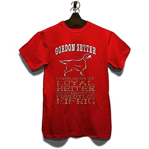 Hund Gordon Setter T-Shirt - Diversi Colori