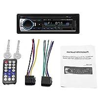 Mainstayae JSD-520 مشغل صوت السيارة البلوتوث مشغل صوت السيارة راديو راديو راديو راديو السيارة 12 فولت في داش اف ام ايه يو اكس منفذ بطاقة اس دي ام بي 3 MMC WMA
