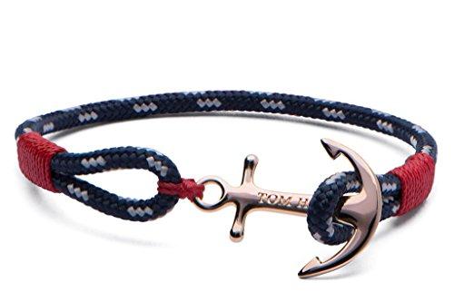 Tom Hope Damen Wickelarmbänder Vergoldet - Pacific Red -Small