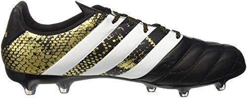 adidas Ace 16.2 Fg Leather, Chaussures de Football Homme Noir (Core Black/Ftwr White/Gold Met.)