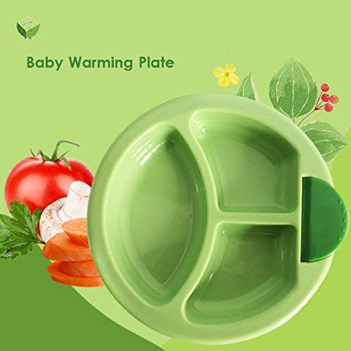 Cartshopper Keep Warming Baby Plate Injection Hot Water Insulation Cup Children's Food Dishes Dinnerware Bowl Baby Feeding Tableware