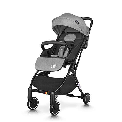 QZX 2 en 1 Poussette bébé Poussette Jogger Voyage Poussette Enfant Âge Applicable 1-3 ans, 6-12 Mois, 0-6 Mois-Couleurs différentes- (Rouge/Noir / Gris),Gray