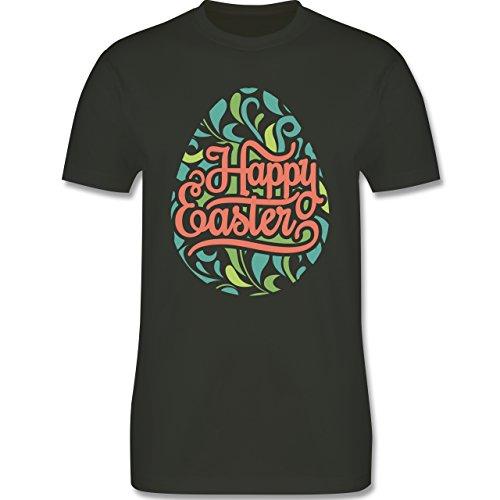 Ostern - Osterei Typografie floral - Herren Premium T-Shirt Army Grün