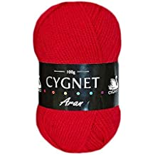 Cygnet C600/1206 | Red 100% Acrylic Aran Yarn/Knitting Wool | 100g
