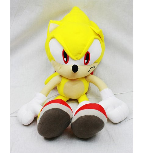 Sonic the Hedgehog Doll Plush Backpack - Super Sonic Yellow (24 Inch) (Sonic Dolls Plüsch)