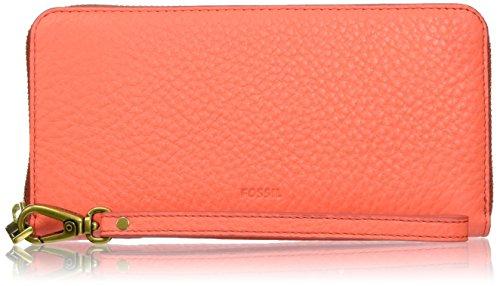 Fossil Damen Emma Geldbörse, Pink (Lava), 2.54x11.13x20.02 cm - Pink-münzen-geldbeutel-schlüsselanhänger