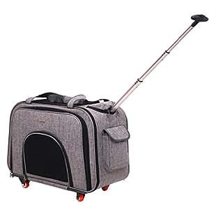 Hundetrolley Rucksack,,Portable Hundetrolley Transport für Hunde Folding Extensible Transportbox , Gray