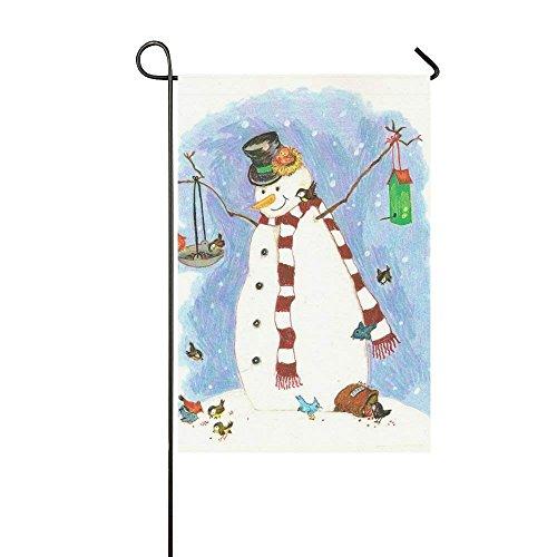 Dozili Gartenflagge Amazing White Christmas Schneemann Home Decoration Wetterfest & doppelseitige Flagge, Polyester, bunt, 28