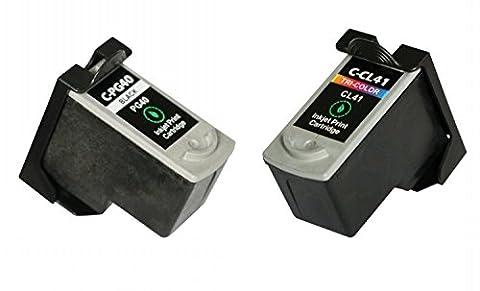 LCL(TM) PG40 CL41 Lot de 2(Noir/Couleur) Cartouches d