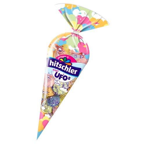 Hitschler Brizzl Ufos Brausepulver-Füllung mit Frucht-Geschmack, 4-fach sortiert 75g -