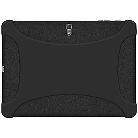 Amzer Exclusive Silicone Skin Jelly Case Cover for Samsung GALAXY Tab S 10.5 SM T805/ T800 - Black