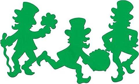 Set of 3 Decorative Paper 40 cm Lucky leprechaun Spinning Basketball on Finger Prints 2 sides
