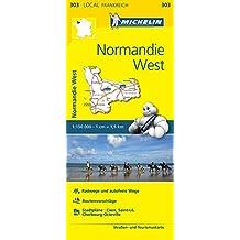 Michelin Normandie West: Straßen- und Tourismuskarte 1:150.000 (MICHELIN Localkarten)