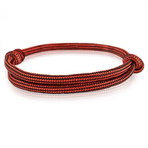 Skipper Surfer-Armband mit Segelknoten für Damen und Herren - Rot/Schwarz 6915