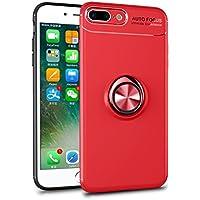 Shinyzone iPhone 6 Plus/iPhone 6S Plus Hülle,Rot mit 360 Grad drehbarer Ring Ständer,Ultra Dünn Weich TPU Stoßfest... preisvergleich bei billige-tabletten.eu