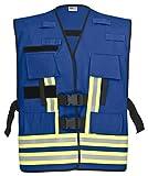 PACOTEX Funktionswesten zur Kennzeichnung von Einsatzpersonal wie z.B. Feuerwehr Warnweste (blau)