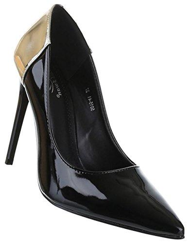 Mit schuhe Verschiedenen Lacklederoptik Farben absatz Heels Damen Schuhe 11 Und Frauen Größen Schwarz Cm Pumps In High Klassische Schuhcity24 Stiletto wPfXBd7qX