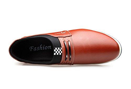 Cuero Aumentó Amarilla Hombre 6 Invisible Única Ocasional Zapato Cm Xiguafr Obra Ocio De wn6FSCqnx