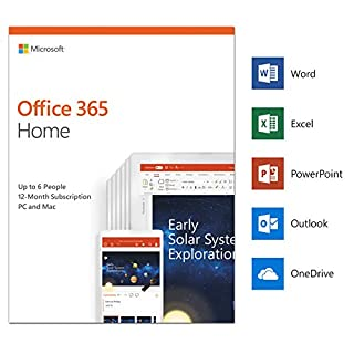 Microsoft Office 365 Home | up to 6 users | 1 year | PC/Mac | download (B00DRP537A) | Amazon Products