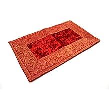 India Cojín 30x 50cm Funda de cojín almohada funda India oriental, rojo, 30 x 50 cm