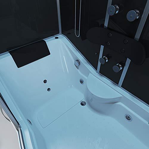 Home Deluxe ALL IN 4in1 Duschtempel, inkl. Dampfsauna und komplettem Zubehör (schwarz, rechts) - 6