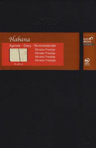 Minister Prestige Schreibtisch-Terminkalender Habana Schwarz 2012: Agenda Planing. 1 Woche auf 2 Seiten mit Tagesnotizen. 13 Monate: Dezember bis Dezember. Von 8.00 Uhr bis 21.00 Uhr