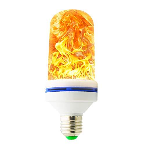 E27 6W LED Flamme Effekt Fire Glühlampen, Creative Leuchten mit flackerndem Emulation, Vintage Atmosphäre Deko, Simuliert Gas Hurricane Laterne, Warm Weiß 1400K -